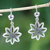 Sterling silver dangle earrings, 'Stars of Hope' - Sterling Silver Dangle Earrings