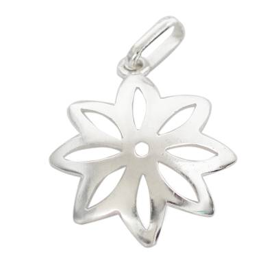 Floral Sterling Silver Pendant