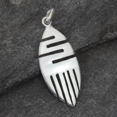 Sterling silver pendant, 'Resilience' - Sterling Silver Pendant
