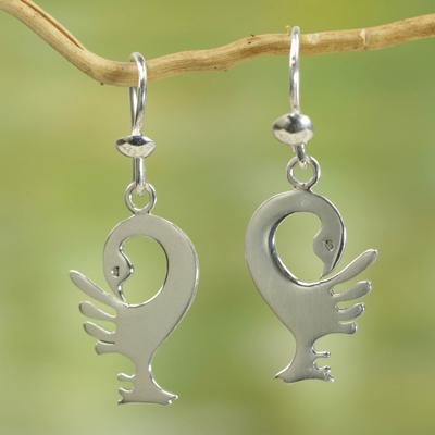 Sterling silver dangle earrings, 'Back to My Roots' - Sterling Silver Dangle Earrings
