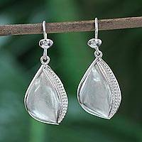 Sterling silver dangle earrings, 'Prosperity' - Sterling Silver Dangle Earrings