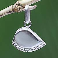Sterling silver pendant, 'Prosperity' (medium) - Hand Made Sterling Silver Pendant (Medium)