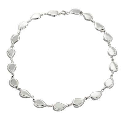 Sterling silver link necklace, 'Prosperity' - Hand Made Sterling Silver Link Necklace