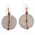 Recycled paper dangle earrings, 'Hot Breakfast' - Hand Crafted Recycled Paper Dangle Earrings thumbail