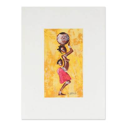 African Folk Art Painting