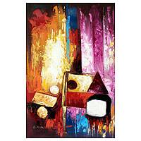 'Impact I - Original Abstract Painting from Africa