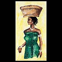 'Abiba' - Original African Portrait Painting