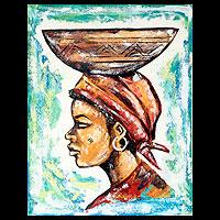 'Zinabu' - Original African Fine Art Portrait Painting
