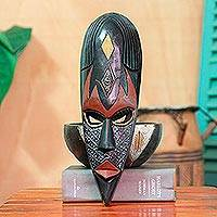 African wood mask, 'Zebu' - African Tribal Mask