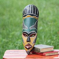 African mask, 'Our Traditions' - African wood mask