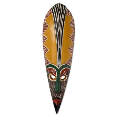 Handcrafted African Wood Mask Messenger Of Peace Novica