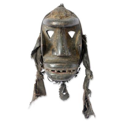 Ivoirian wood mask, 'Woman's War Spirit' - Fair Trade Ivoirian Wood Mask