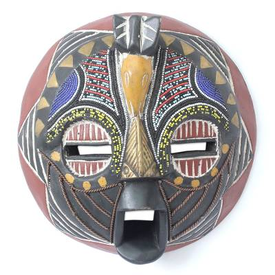 African wood mask, 'Bakota Gratitude' - African wood mask