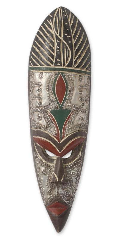 African wood mask, 'Shaku' - African Wood Mask