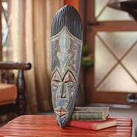 African wood mask, 'Mujamu' - Hausa Wood Mask from Africa