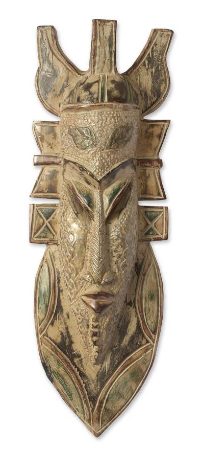African wood mask, 'Ahenfo' - African Wood Mask