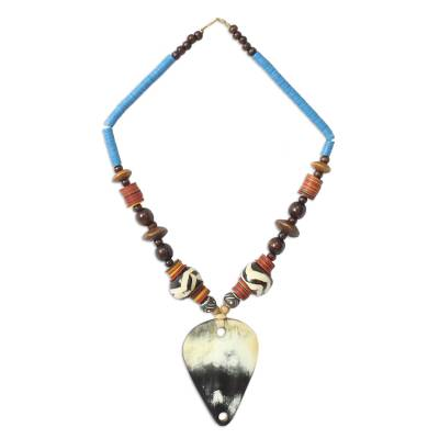 Bull Horn Pendant Necklace from Africa