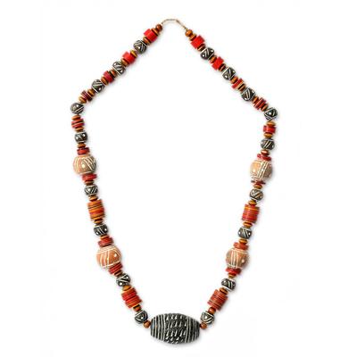Fair Trade Ceramic Beaded Necklace