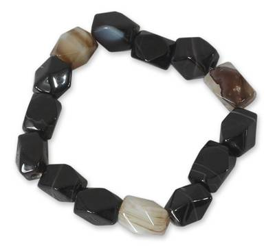 Hand Crafted Beaded Agate Bracelet