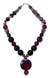 Quartz and chalcedony beaded necklace, 'Love Honors' - Quartz and Chalcedony Beaded Necklace (image 2a) thumbail