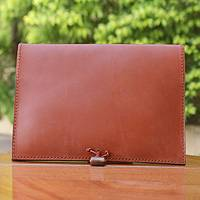 Leather iPad case, 'Tan Indulgence' - Brown Leather Tablet Case