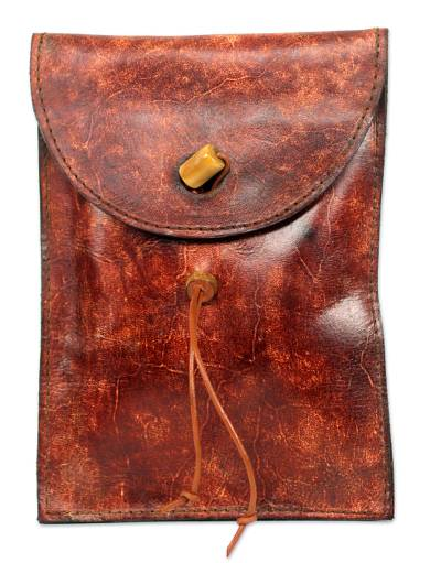 Novica Leather Kindle case, Autumn Russet - African Leather Kindle Case