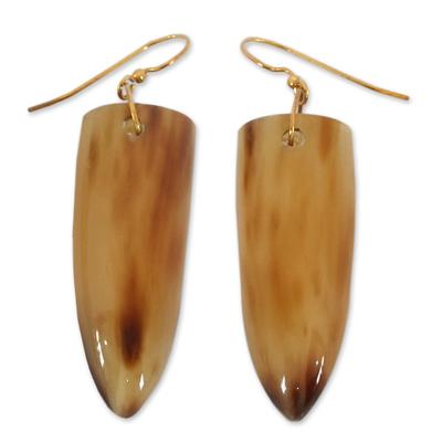 Modern Horn Dangle Earrings