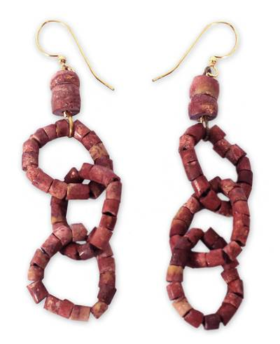 Bauxite dangle earrings
