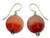 Beaded earrings, 'Afriyie' - Artisan Crafted Cat's Eye Earrings thumbail