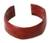 Leather cuff bracelet, 'African Brown' - Leather Cuff Bracelet (image 2a) thumbail