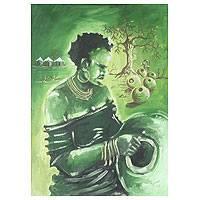 'The Homemaker' - African Original Painting