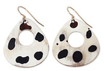 Handmade Horn Dangle Earrings