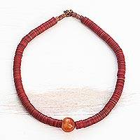 Beaded necklace, 'Wisdom of the Elders'