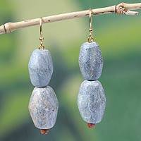 Soapstone dangle earrings, 'Natural Allure' - Soapstone dangle earrings