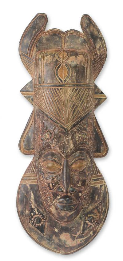 African mask, 'King of Ghana' - African mask