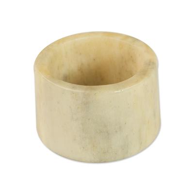 Artisan Crafted Bone Band Ring