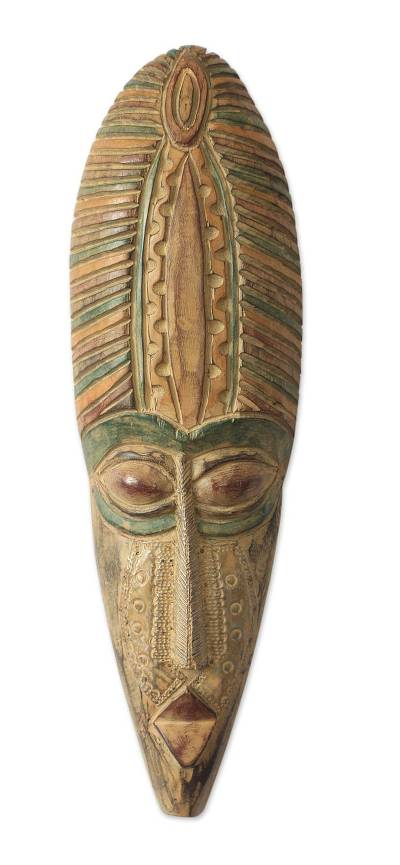 African wood mask, 'Ankonam' - African wood mask