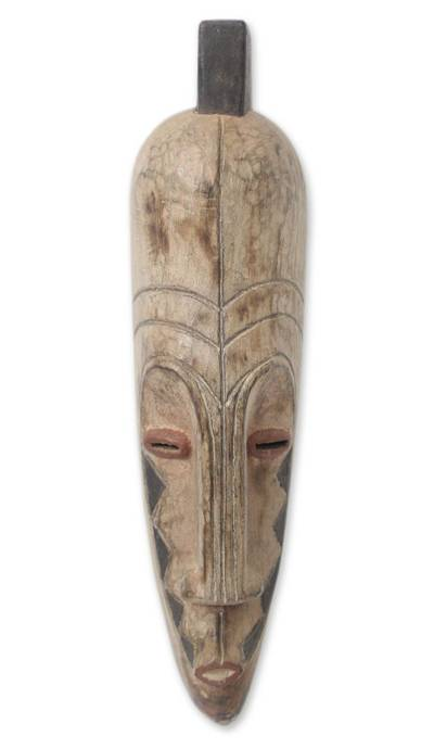 African wood mask, 'Dance' - Ivory Coast Wood Mask