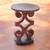 Wood accent table, 'African Ram's Horn' - African Wood Accent Table (image 2) thumbail