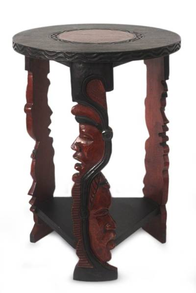 Handcrafted Wood End Table