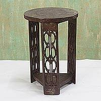 Wood side table, 'African Endurance'