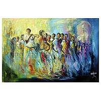 'Celebration' - Expressionist Acrylic Painting