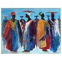 'Market Parade' (2012) - African Expressionist Painting