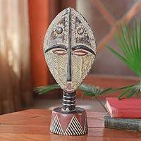 Ashanti wood mask, 'Queen of Africa' - Ashanti wood mask