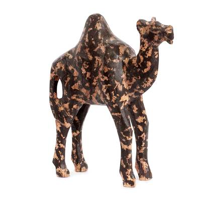 Wood sculpture, 'African Camel' - Wood sculpture