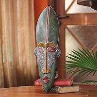 Ghanaian wood mask, 'Sky Man' - African wood mask