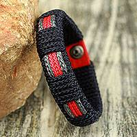 Men's wristband bracelet, 'Legacy of Africa' - Fair Trade  Men's Bracelet Hand-crafted Jewelry