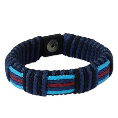 Men's wristband bracelet, 'Legends of Africa' - Men's Artisan Crafted Wristband Bracelet