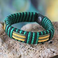 Men's wristband bracelet, 'Essence of Africa'