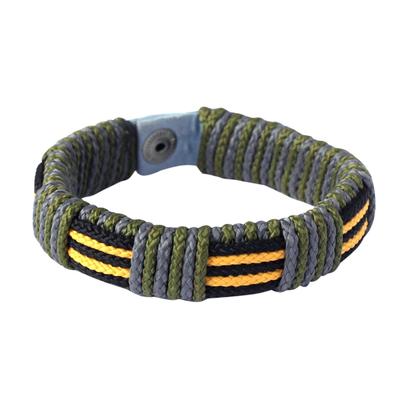 Men's wristband bracelet, 'Courage of Africa' - Men's wristband bracelet